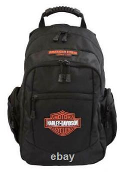 Harley-Davidson Classic Bar & Shield Rubber Patch Backpack, Black BP1932S-ORGBLK