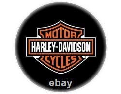 Harley-Davidson Classic Bar and Shield Barhocker HDL-12204 schwarz chrom Lehne