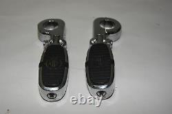 Harley-Davidson Crested Bar & Shield Foot Pegs w Engine Guard Mounts 50576-05