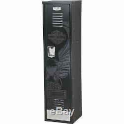 Harley-Davidson Eagle Bar & Shield Metal Steel Storage Locker Cabinet Black