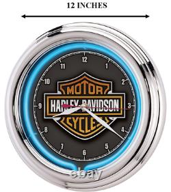 Harley Davidson Essential Bar & Shield Neon Clock