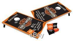 Harley Davidson Genuine Oil Bar & Shield Bean Bag Toss game