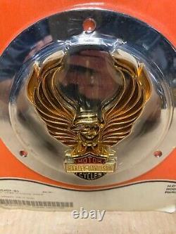 Harley Davidson Golden Eagle Bar & Shield Retro Derby Cover 25457-81