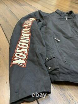 Harley Davidson Jacket Mens LARGE Nylon Bar & Shield Belted