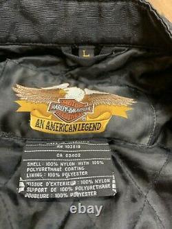 Harley Davidson Jacket Mens Large Nylon Bar & Shield Belted 98001-03VM