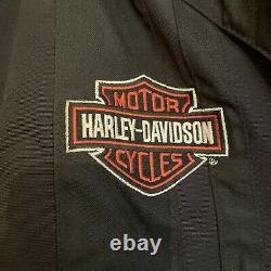 Harley Davidson Jacket Mens Nylon Bar & Shield Belted Size XLARGE Quilted Nice
