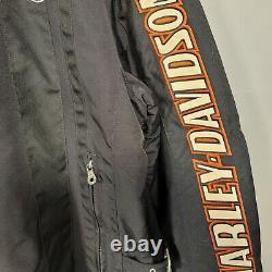 Harley Davidson Jacket Mens XL Nylon Bar & Shield Belted 52 Chest