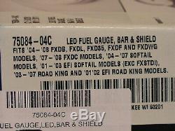 Harley-Davidson LED FUEL GAUGE BAR & SHIELD LOCKING FUEL CAP STYLE 75084-04C
