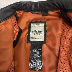 Harley-Davidson LG Black Leather Moxie Motorcycle Bar & Shield Jacket 98003-11VW