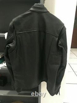 Harley Davidson Leather Black Bar and Shield Riders Jacket Size Large