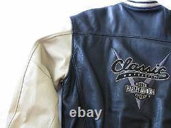 Harley-Davidson Leather Bomber Jacket Classic Motorcycle Bar Shield V-Twin Men M