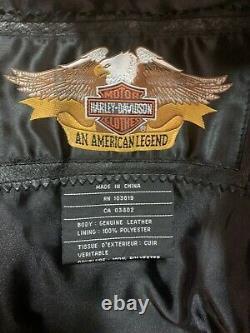Harley Davidson Leather Jacket With Bar Shield & Logo Women's Med. NEW $299