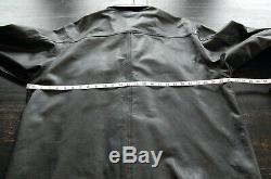 Harley Davidson Leather Shirt Jacket Men's size XXL Black Bar Shield Snap Closer