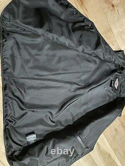 Harley Davidson MENS LARGE Stock Leather Vest 98150-06VM w Bar Shield Embroidery