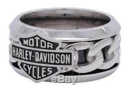 Harley-Davidson MOD Steel Chain Bar & Shield Ring Gr. 9 = 19mm Ø EDELSTAHL