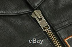Harley Davidson Men Roadway Black Leather Jacket Bar & Shield