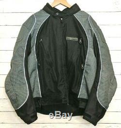 Harley-Davidson Men's 3XL Reflective Bar & Shield Armored Jacket Black Gray EUC