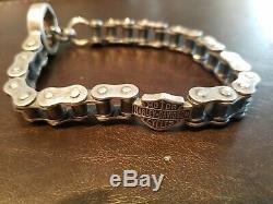 Harley-Davidson Men's Bar & Shield Bike Chain Bracelet