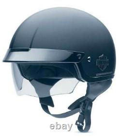 Harley-Davidson Men's Bar & Shield Half Helmet With Sun Shield 98224-11VM