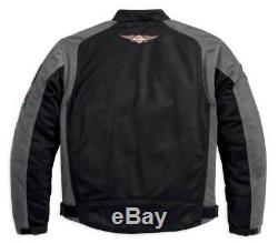 Harley-Davidson Men's Bar & Shield Logo Mesh Riding Jacket Black 98233-13VM