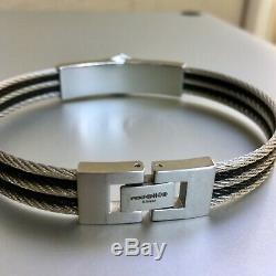 Harley-Davidson Men's Bar & Shield Logo Steel Cable ID Bracelet, HSB0068