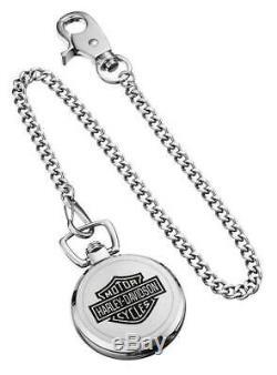 Harley-Davidson Men's Bar & Shield Pocket Watch 76A165