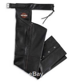 Harley-Davidson Men's Bar & Shield Stock Leather Chaps 98090-06VM
