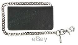 Harley-Davidson Men's Bison Bar & Shield Bi-Fold Biker Wallet, 22 Inch Chain