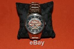 Harley-Davidson Men's Bulova Watch 76A17 SELF WINDING BAR & SHIELD