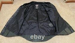 Harley Davidson Men's Leather Shirt Jacket Bar Shield Snaps Large 98111-98VM