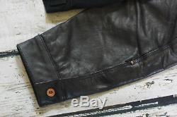 Harley Davidson Men's Leather Sleeve Bar&Shield Black Denim Jacket XL 99183-19VM