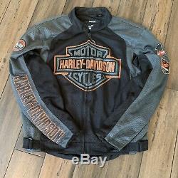 Harley-Davidson Men's Mesh Bar & Shield Jacket L 98233-13VM