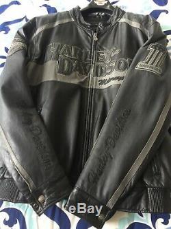 Harley Davidson Men's Prestige Leather Jacket Bar&Shield XL