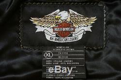 Harley Davidson Men's Prestige Leather USA Made Jacket Bar&Shield 97000-05VM XL