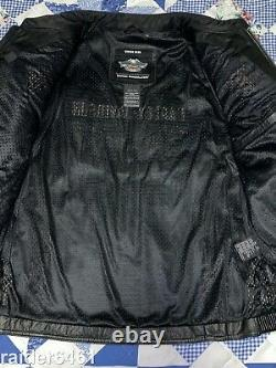 Harley Davidson Men's ROADWAY Black Leather Jacket Bar & Shield XL 98015-10VM EC