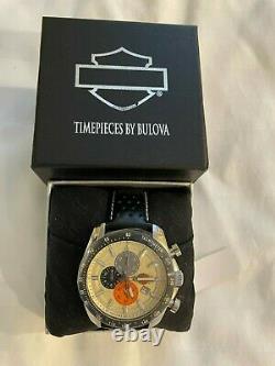 Harley-Davidson Men's Vintage Bar and Shield Chronograph Watch Leather 78B154