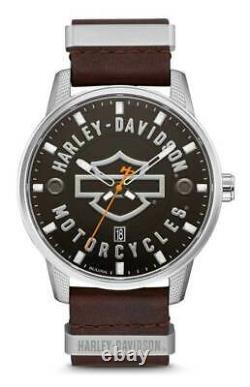 Harley Davidson Mens Bar & Shield Bulova Watch Limited Edition