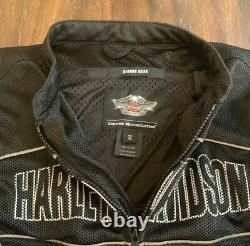 Harley-Davidson Mens Bar & Shield Flames Ride Ready Mesh Jacket 98304-10VT