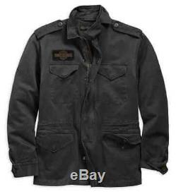 Harley Davidson Mens Bar & Shield Logo Military Field Jacket NWT