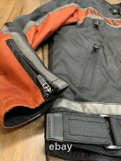 Harley Davidson Mens Classic Functional Textile Riding Jacket size L Bar&Shield