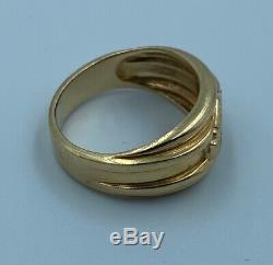 Harley-Davidson Mens Gold Ring Bar and Shield 10K Size 7 1/2
