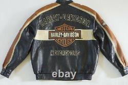 Harley Davidson Mens Prestige Leather USA Made Jacket Bar & Shield 97000-05VM XL