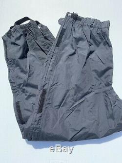 Harley Davidson Mens Rain Suit Jacket Pants XL Gray Reflective Bar & Shield