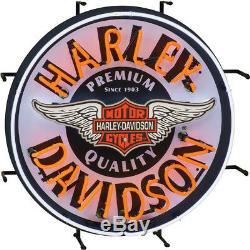 Harley-Davidson Motorcycle Winged Bar Shield Logo Neon Retro Sign Acrylic 24 D