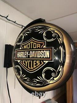 Harley-Davidson Motorcycles Bar & Shield Eagle PUB LIGHT Sign Bar Man Cave Gift
