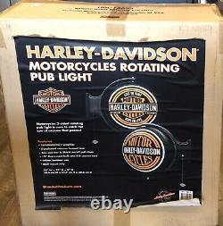 Harley-Davidson Motorcycles Bar & Shield ROTATING PUB LIGHT Bar Man Cave Gift