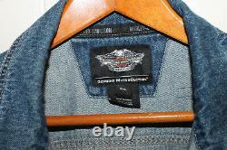 Harley-Davidson Motorcycles Denim Jean Jacket Men's Bar & Shield Logo Size XXL