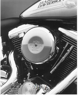 Harley-Davidson (Nostalgic) Bar & Shield Chrome Air Cleaner Cover 8 NEW