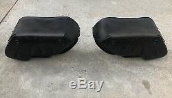 Harley Davidson OEM Bar & Shield Dyna FXD FXDL Genuine Leather Saddlebags