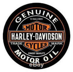 Harley-Davidson Oil Can Bar & Shield Round Cafe Table, Black Finish HDL-12316